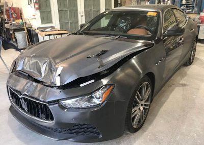 2017 Maserati Ghibli front-end damage repair project gallery-02