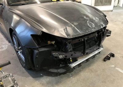 2017 Maserati Ghibli front-end damage repair project gallery-05