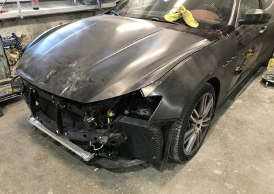 2017 Maserati Ghibli front-end damage repair project gallery-07