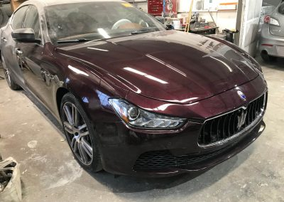 2017 Maserati Ghibli front-end damage repair project gallery-17