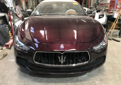 2017 Maserati Ghibli front-end damage repair project gallery-18
