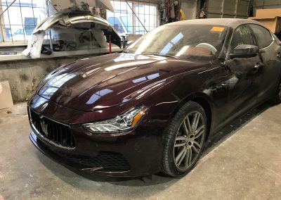 2017 Maserati Ghibli front-end damage repair project gallery-19